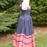 I love this profile. Much of it is due to a corded petticoat, with padded pleats.